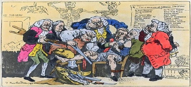 Caricature of Georgian Surgeons at Work - Thomas Rowlandson, 1793